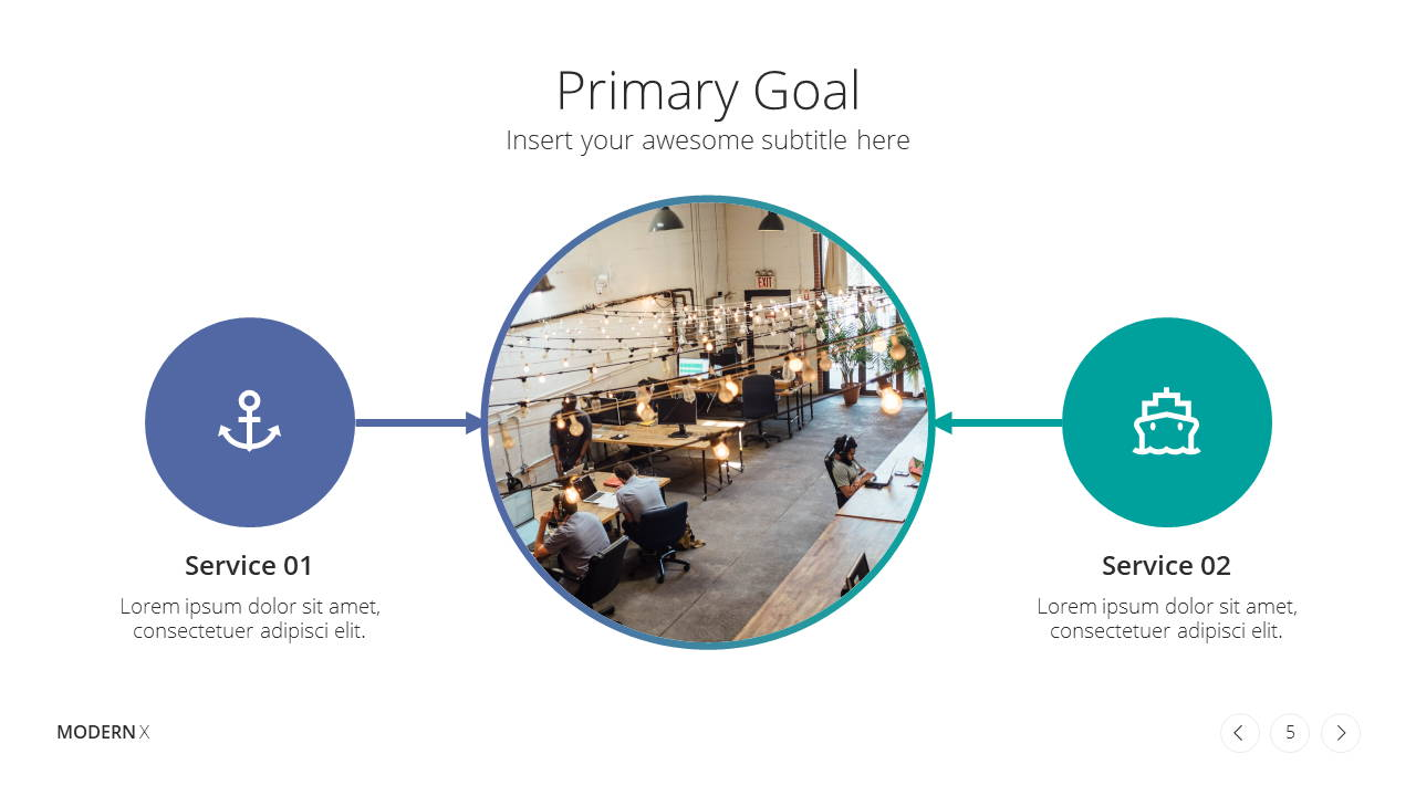 Modern X Consulting Firm Proposal Presentation Template Goals