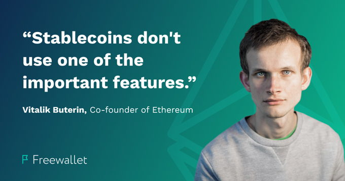 Vitalik Buterin talks about stablecoins