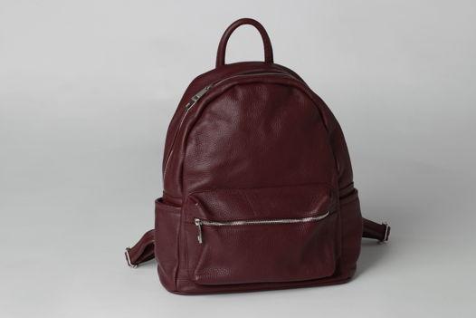 Кожаный рюкзак SASHA сливового цвета