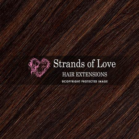 Strands Of Love Hair Extensions Colour Soft Black Chestnut Highlight