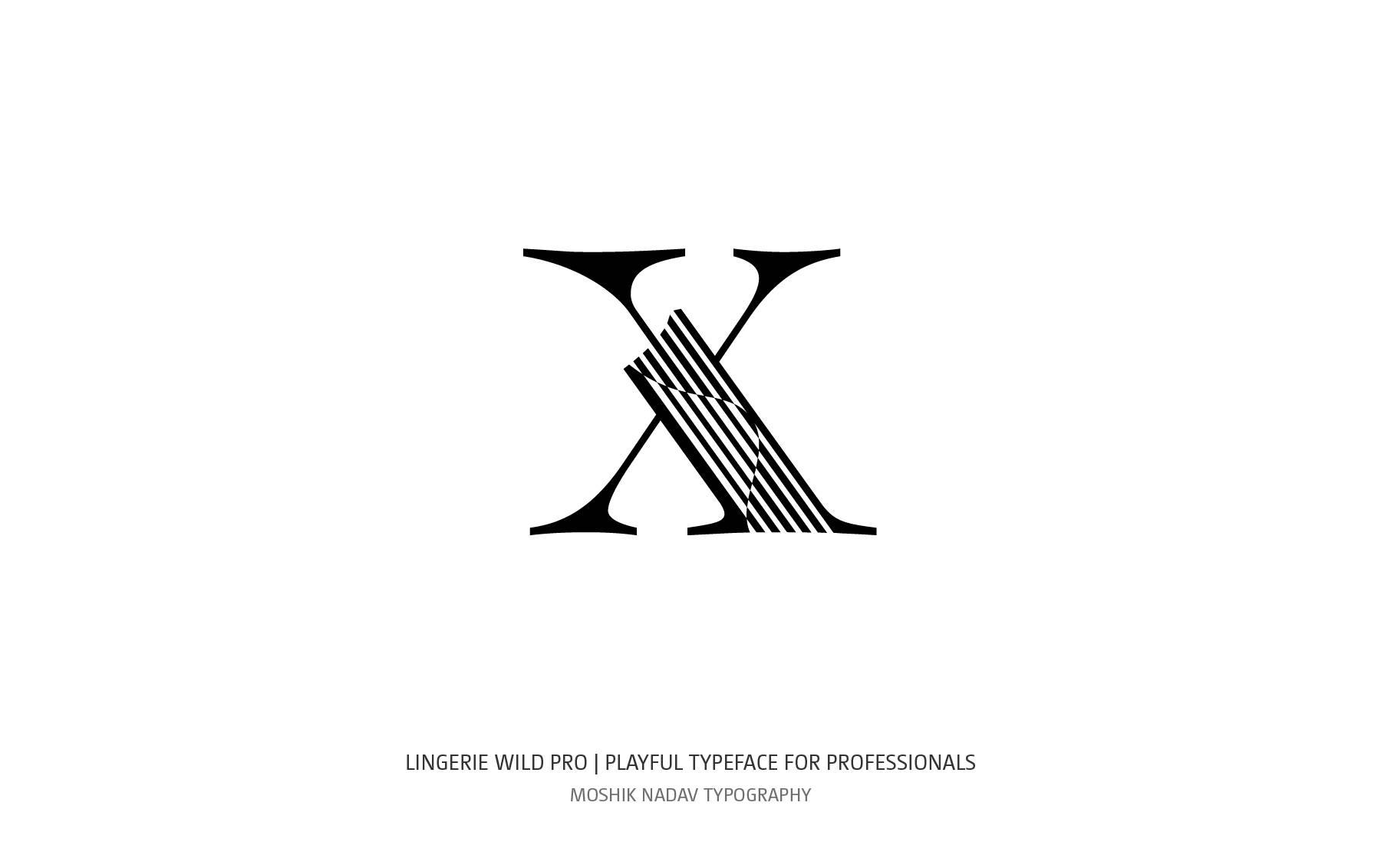 Lingerie Wild Pro Typeface designed by Moshik Nadav Fashion Typography