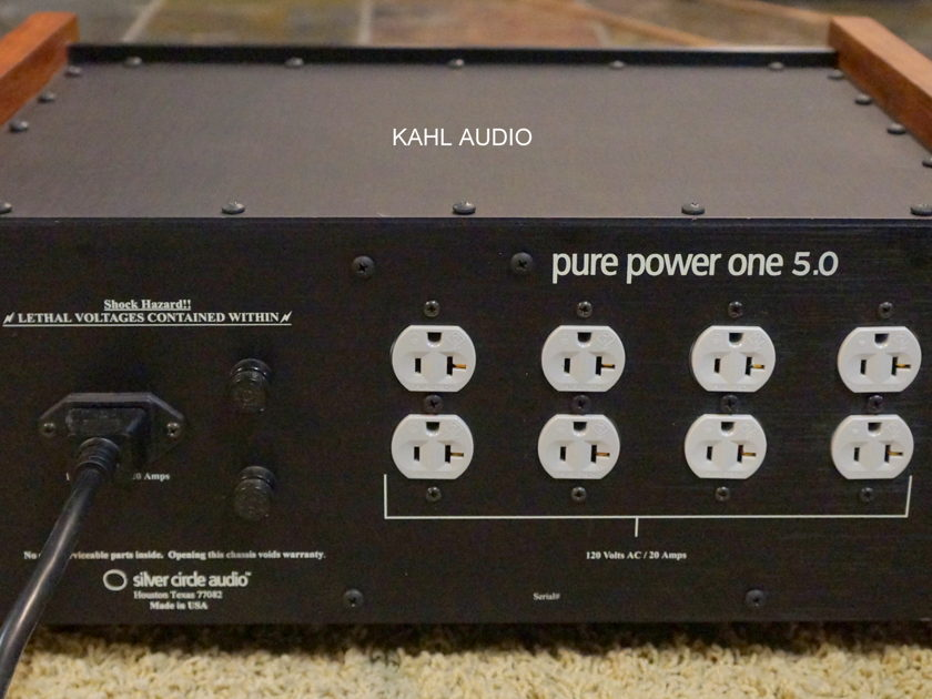 Silver Circle Audio Pure Power One 5.0 Massive power conditioner! $5,000 MSRP.