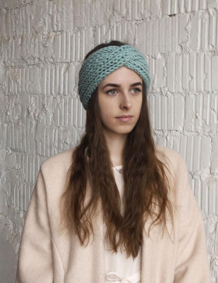 вязаная повязка на голову в магазине теплое More на ламбада маркете