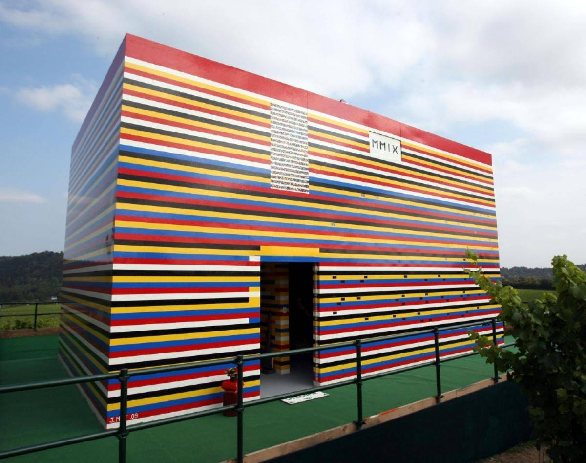Life-Size LEGO House Sculpture