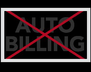 no auto-billing