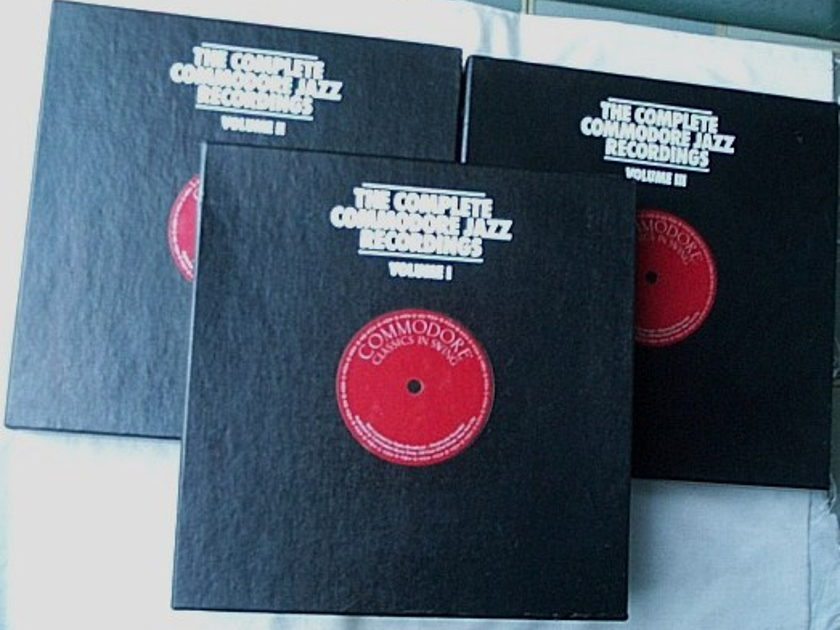 Complete Commodore Jazz  - Recordings Mosaic 66 LPs-three box sets