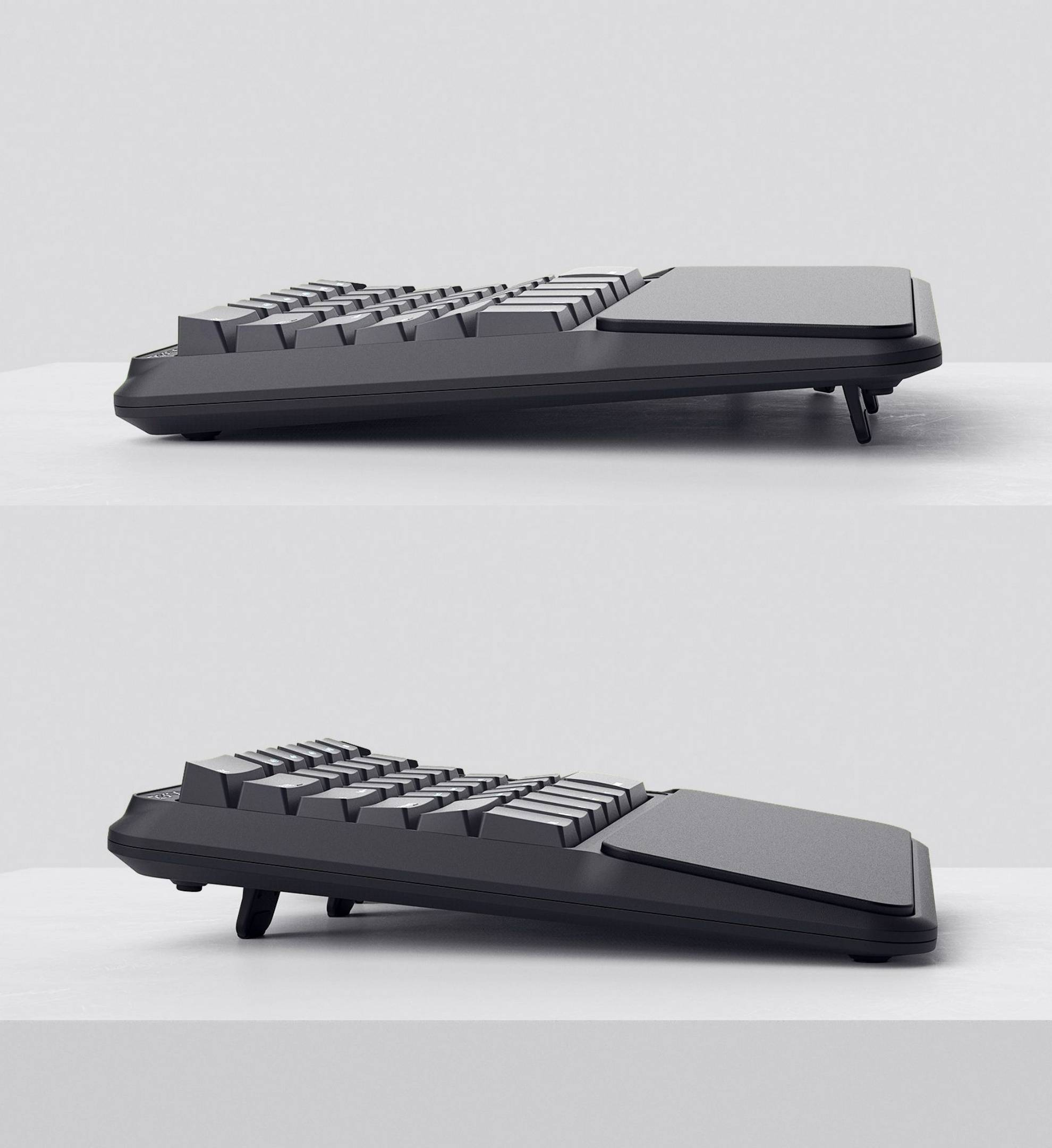 mechanical ergonomic keyboard palm wrist rest typing