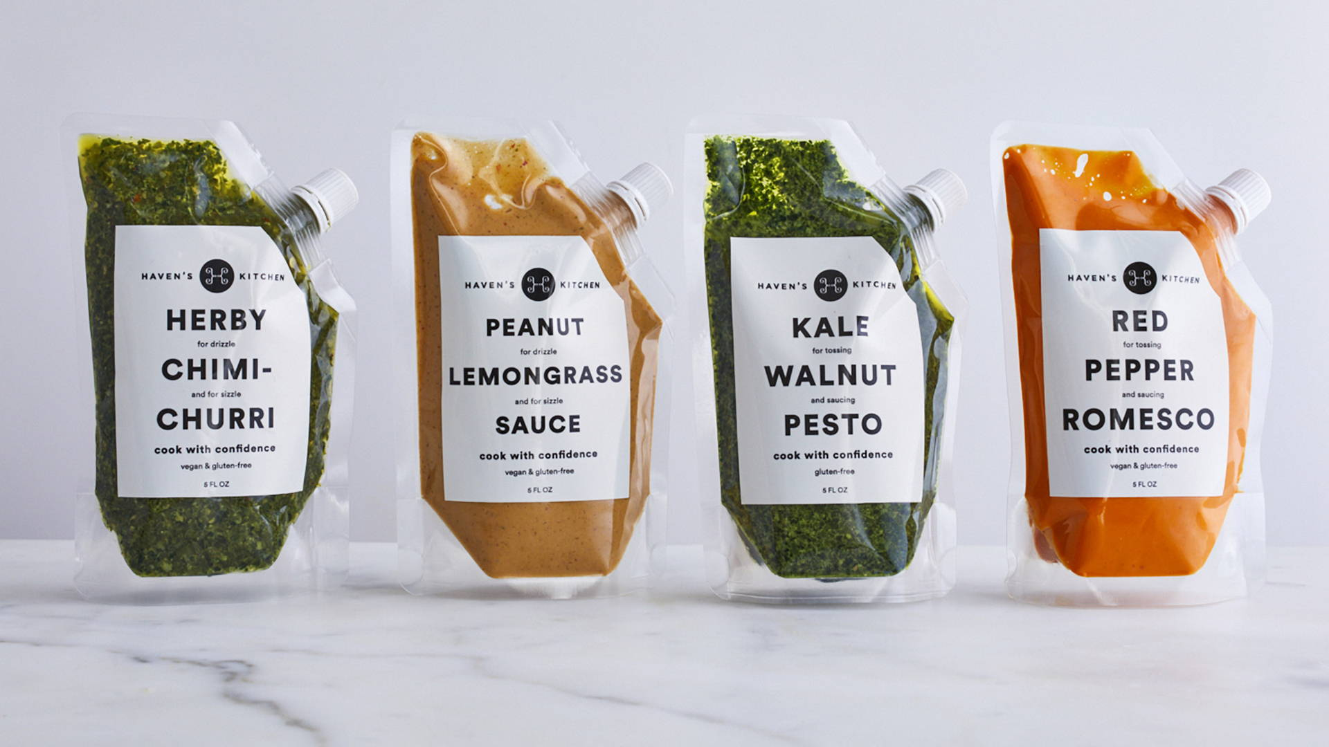 Functional Yet Futuristic Packaging Makes Haven S Kitchen Sauces Look Like Gourmet Space Food Dieline Design Branding Packaging Inspiration