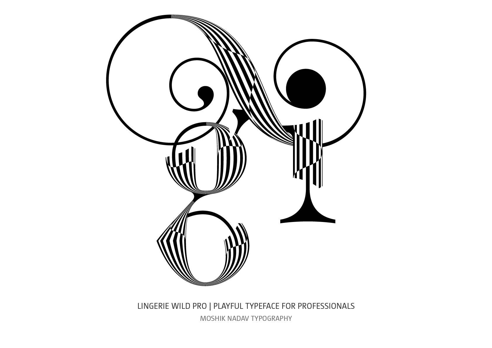 gi ligature designed with Lingerie Wild Pro Typeface by Moshik Nadav Fashion Typography