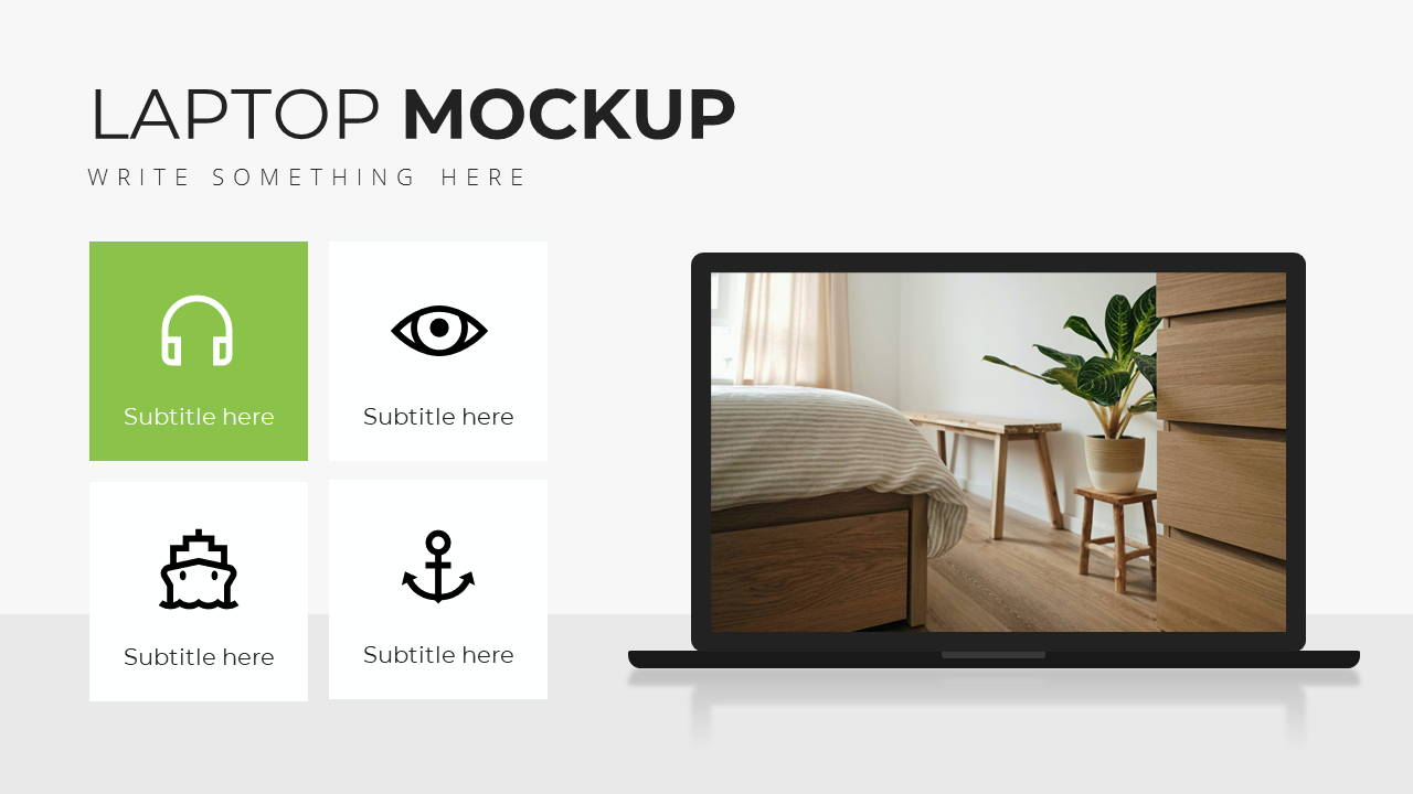 Minimal X Sales Deck Presentation Template Laptop Showcase