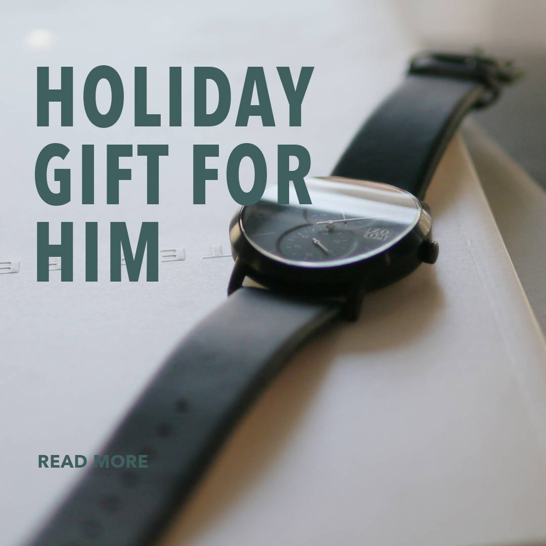 black designer watch as a gift