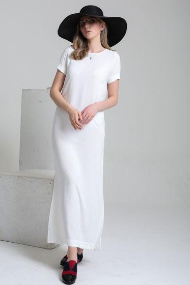 Платье удлиненное с разрезами