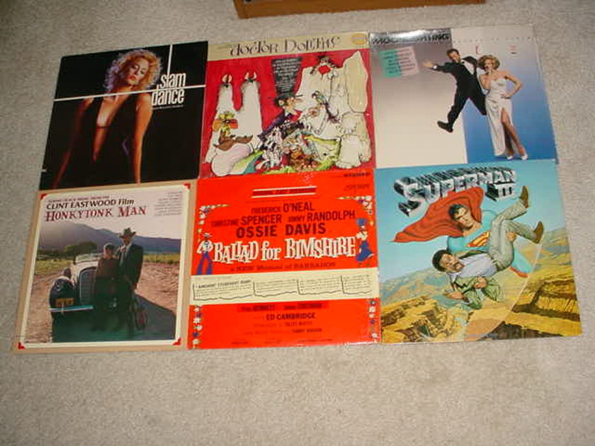 SOUNDTRACK MOVIE CAST - 18 LP RECORD LOT