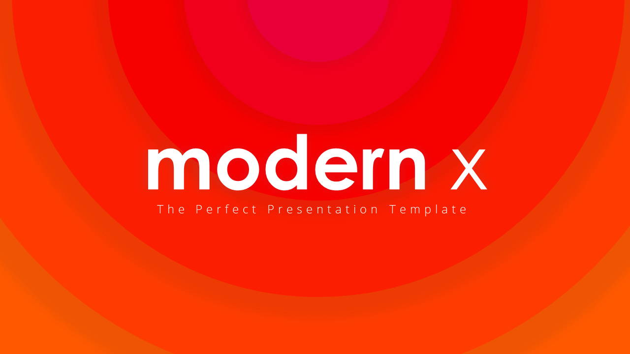 Modern X Project Proposal Presentation Template Title Page