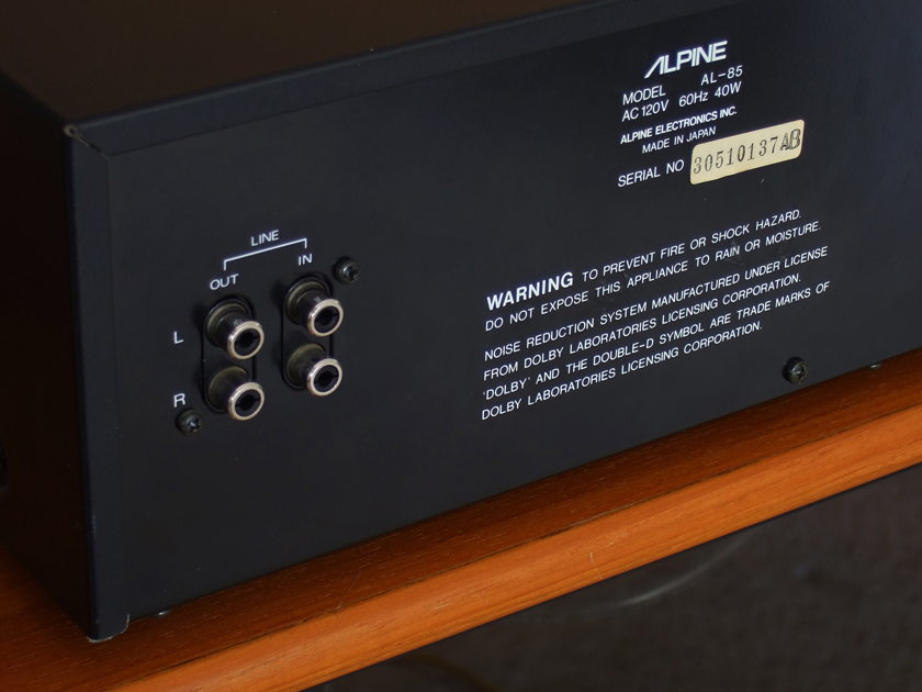 Alpine AL-85 Rare 3 Head Cassette Deck Beautiful - Just One small quirk