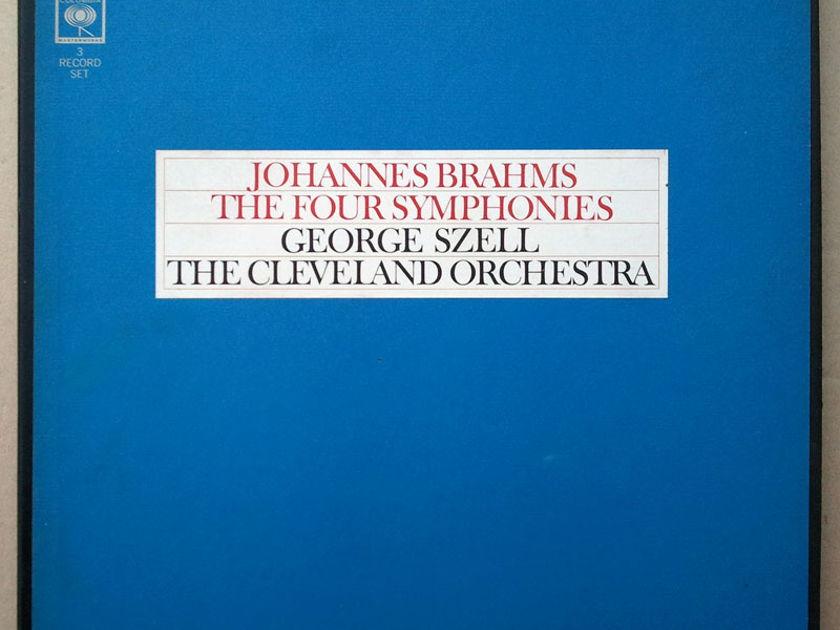 Columbia 2-eye/Szell/Brahms - The Four Symphonies / 3-LP Box Set / EX