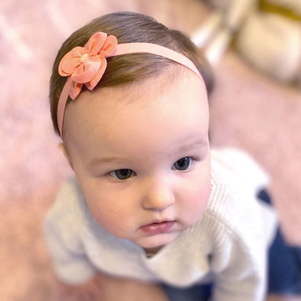child with hair accessories