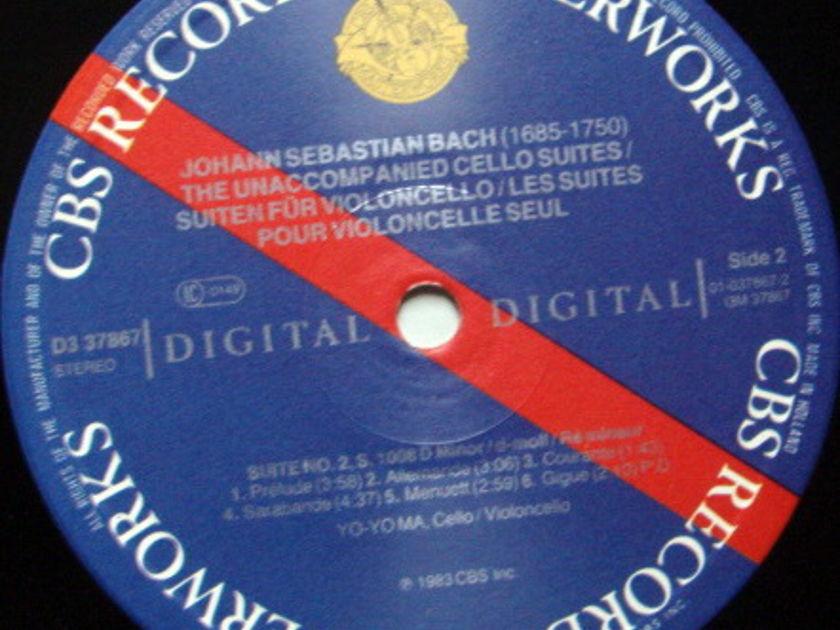 CBS Digital / YO-YO MA, - Bach The Unaccompanied Cello Suite, MINT, 3LP Box Set!
