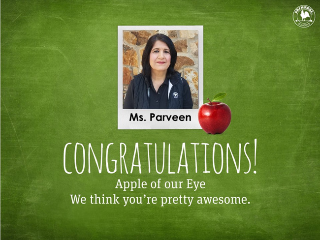 Parveen Apple of Our Eye May 2019