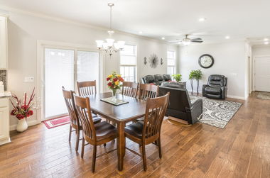 Hardwood Dining and Living