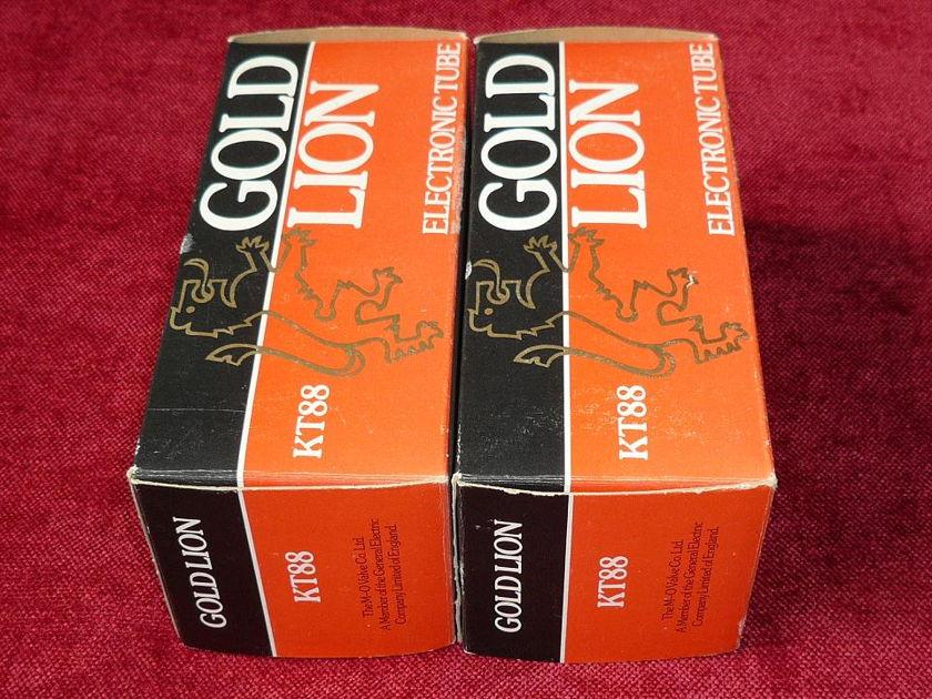 GOLD LION KT 88 TUBES  MATCHED PAIR GENUINE OLD UK Production NOS NIB