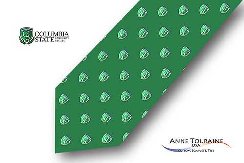 Repeated-logo-custom-ties-bow-ties-design-style-green