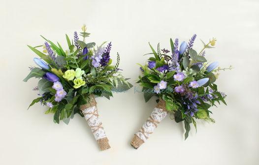 Весенние подарочные букетики из искусственных цветов