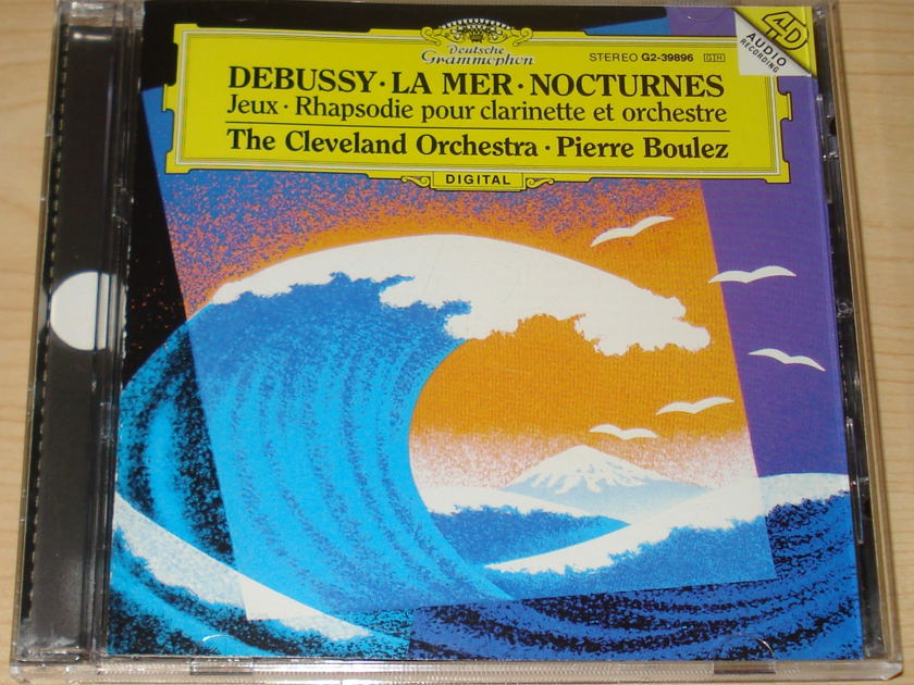 Debussy La Mer Nocturnes - The Cleveland Orchestra Pierre Boulez DG CD