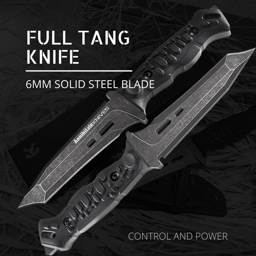 Cross-border Knife, Zune Lotoo Annihilate Knife, Survival Knife, Tactical Knife, EDC Knife, K Sheath, Fully Modular Sheath, G10,Camping Knife, Fix Blade, Fixed Blade Knife