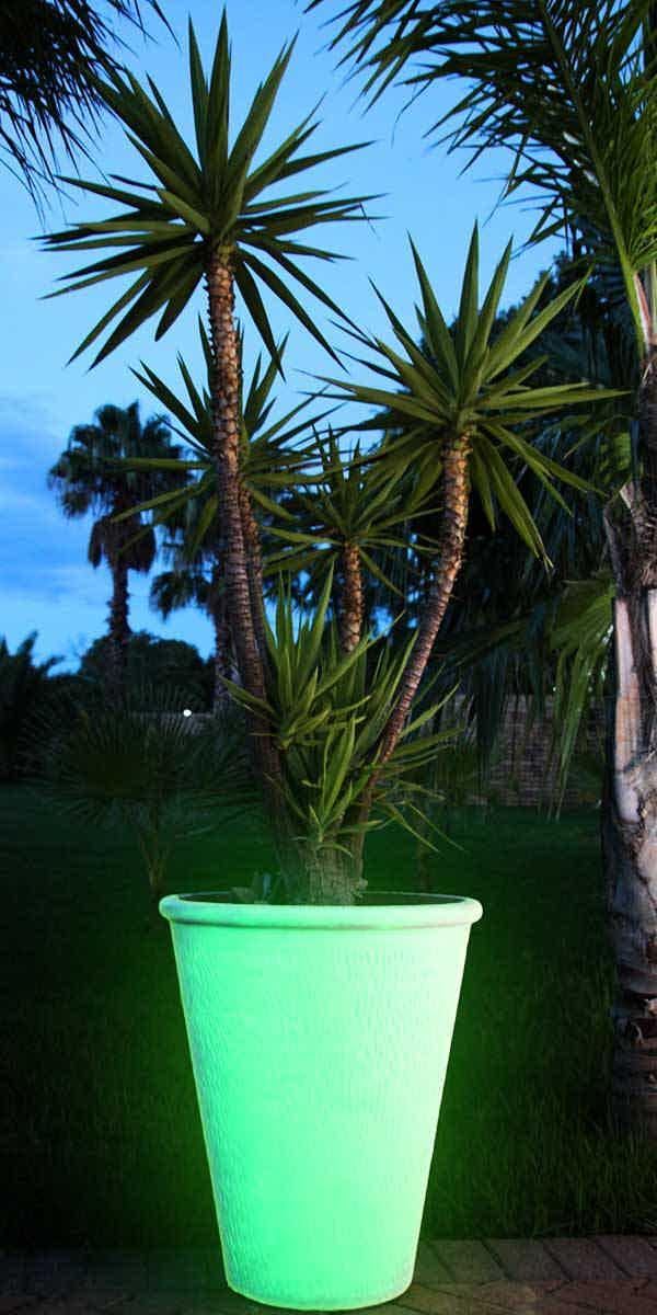 Glow in the dark flower pot