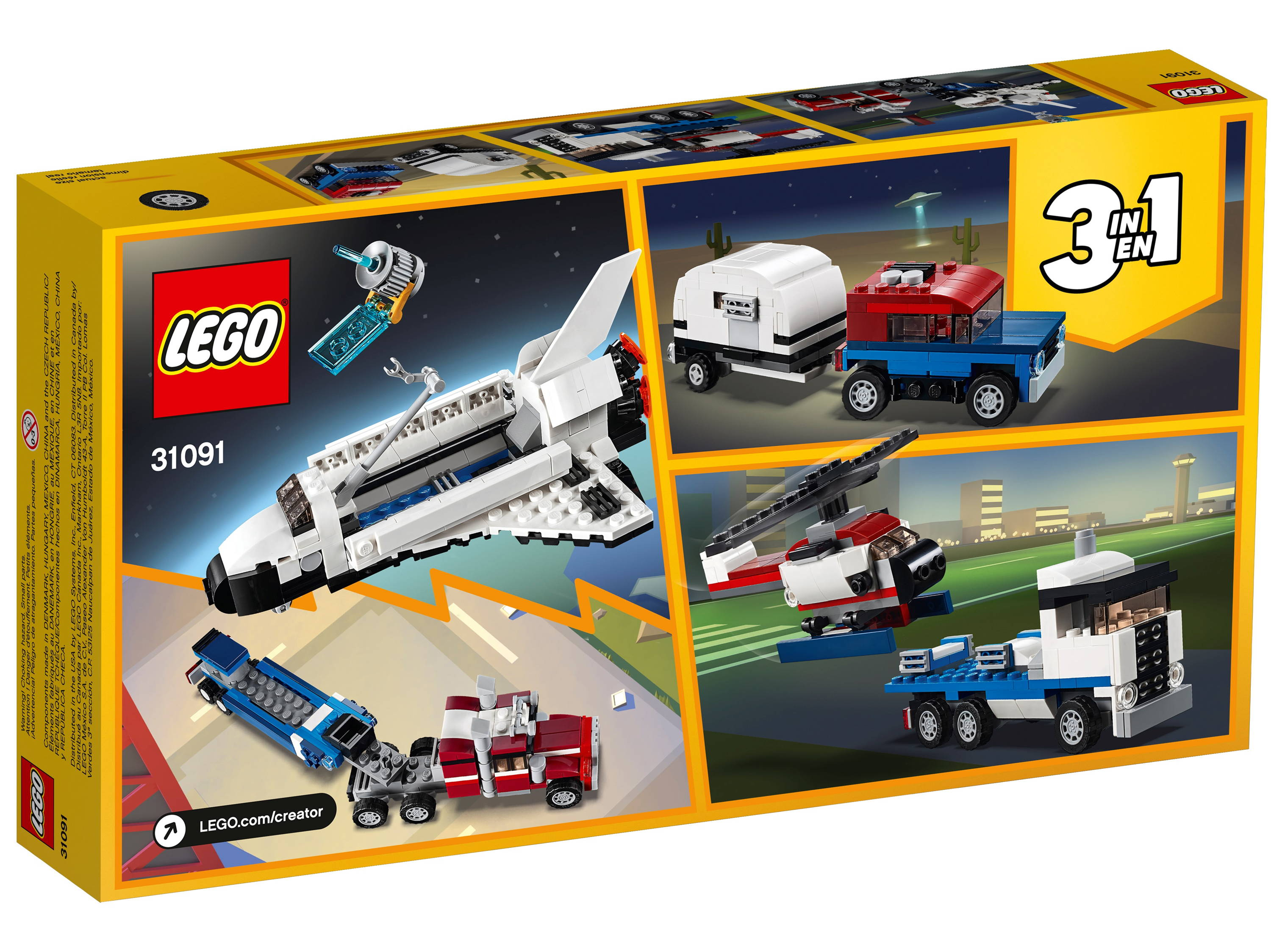 LEGO Creator 3-in-1 Shuttle Transporter