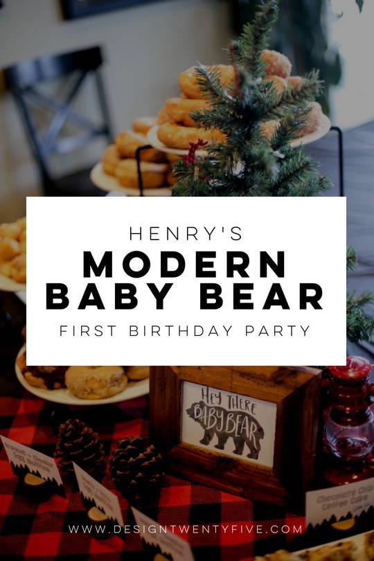baby bear, baby bear first birthday, designtwentyfive, modern baby bear birthday