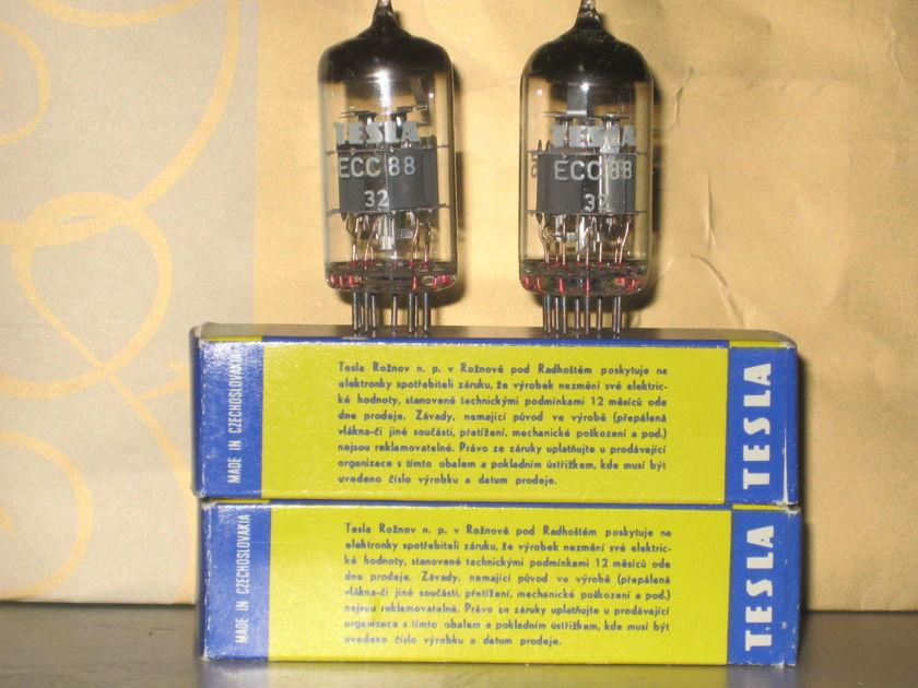 Tesla ECC88/6922  NIB pairs