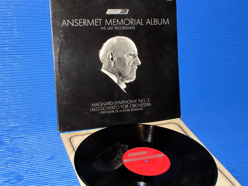 "ANSERMET MEMORIAL ALBUM  - ""Magnard Symphony 3 / Lalo Scherzo"" -  London1969 early Pressing"