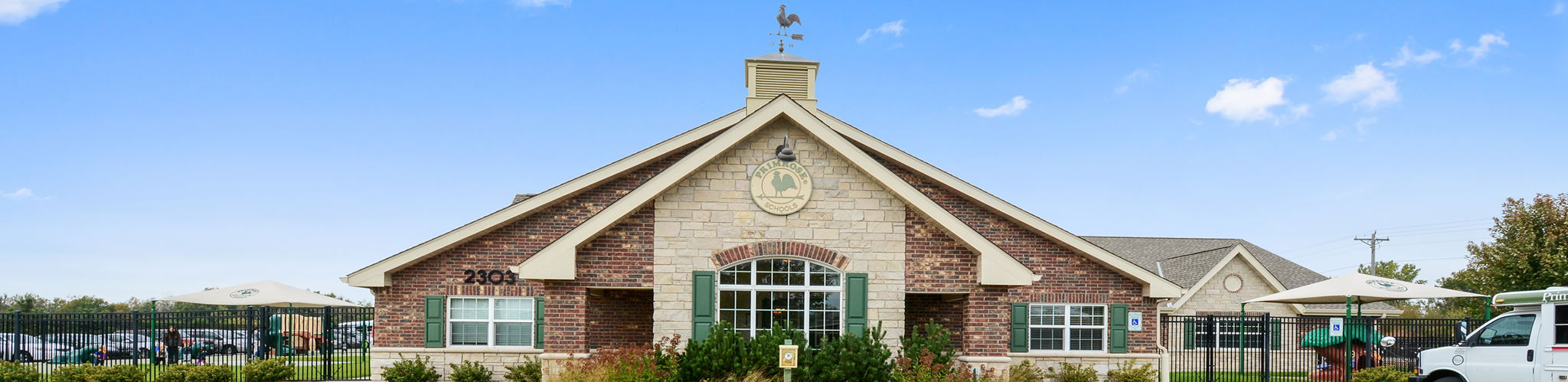 Exterior of a Primrose School of The Lakes at Blaine