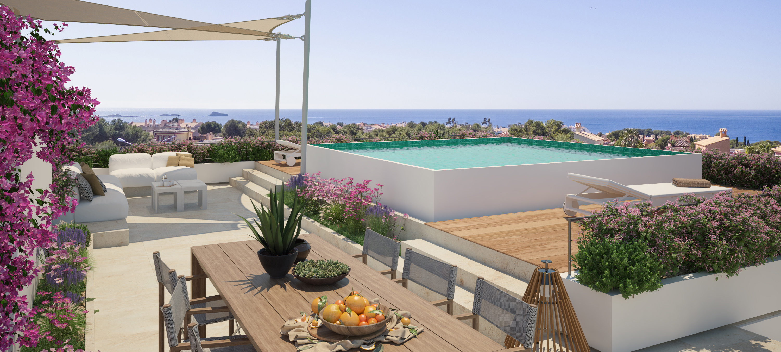 Santa Ponsa - Roof terrace with private pool at GREEN ELEMENTS