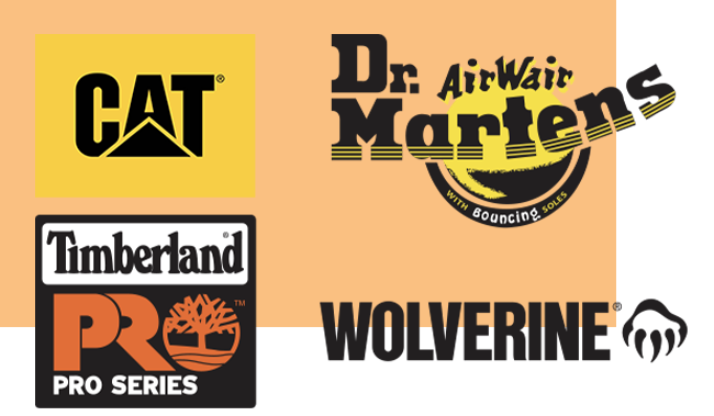Top Brands: CAT, Dr. Martens, Timberland Pro, and Wolverine