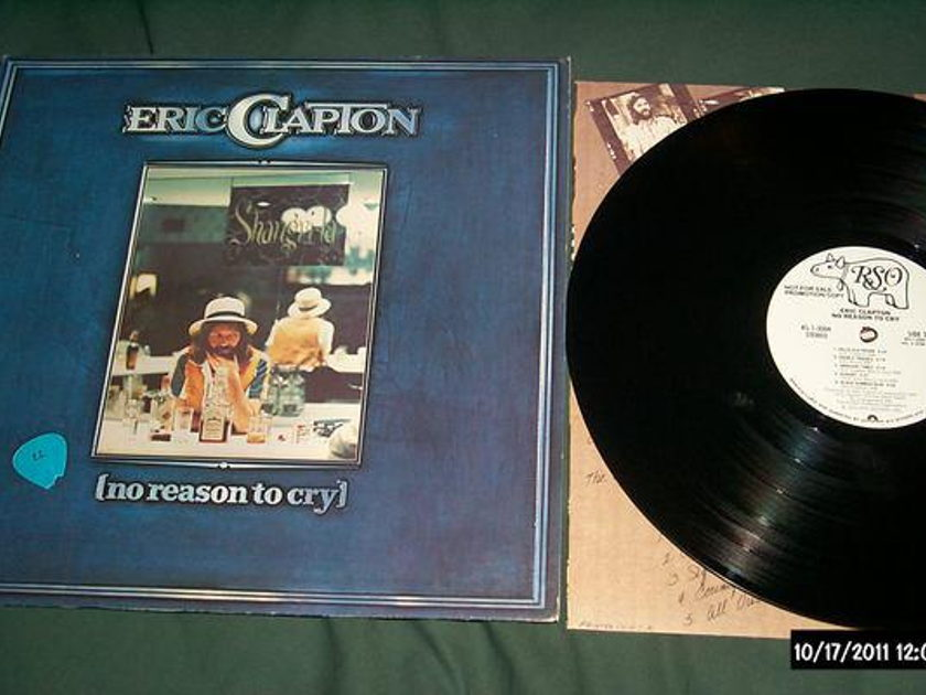 Eric Clapton - No Reason To Cry white label promo lp nm