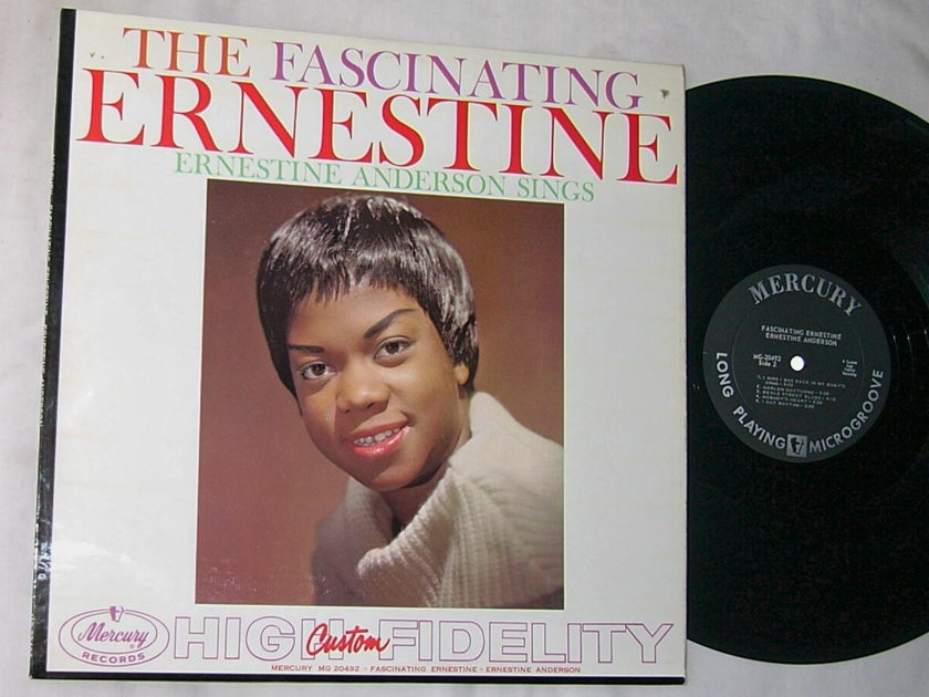 ERNESTINE ANDERSON LP-- - FASCINATING--rare orig 1959 vocal jazz album--Mercury MONO
