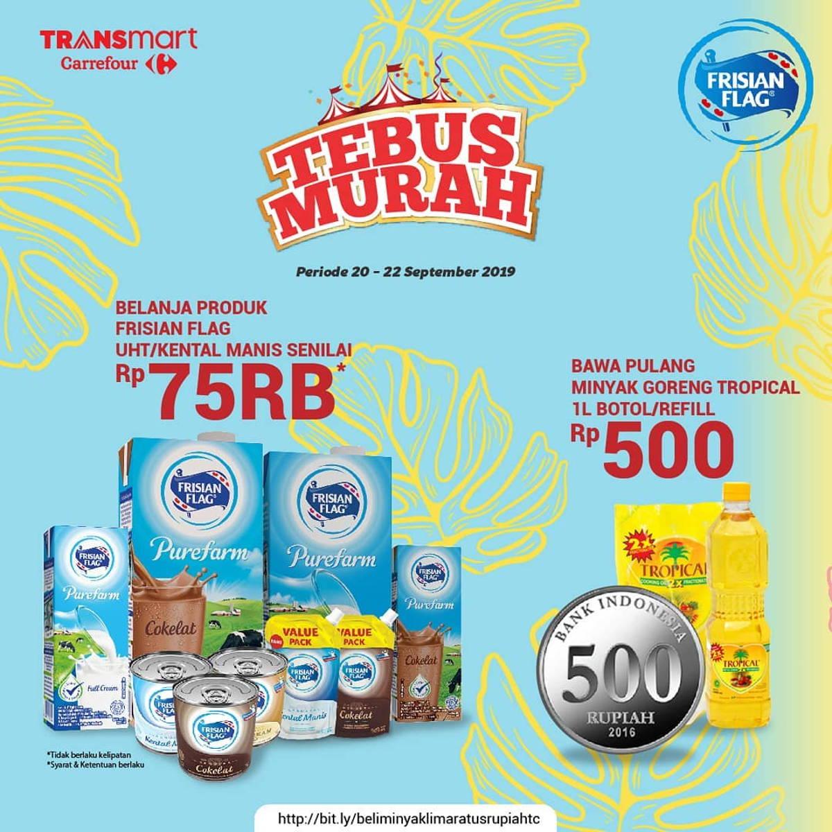 Katalog Promo: TRANSMART CARREFOUR: Promo TEBUS MURAH Minyak Goreng / Kecap Hanya Rp. 500 - 3