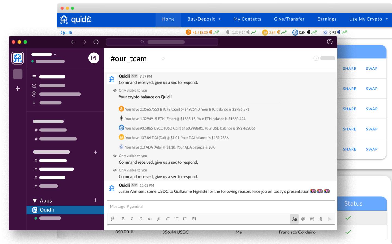 Share crypto in Slack using Quidli