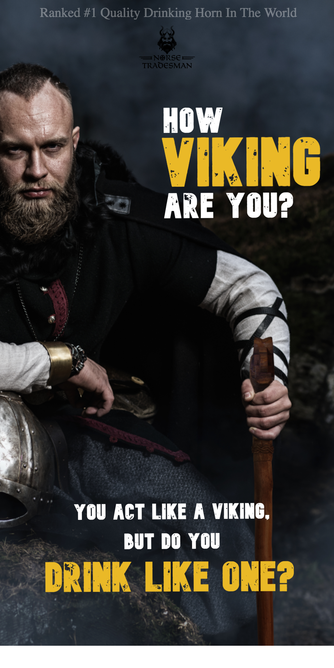the #1 ranked viking drinking horns in the world. how viking are you?