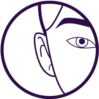 purple ear waxing icon