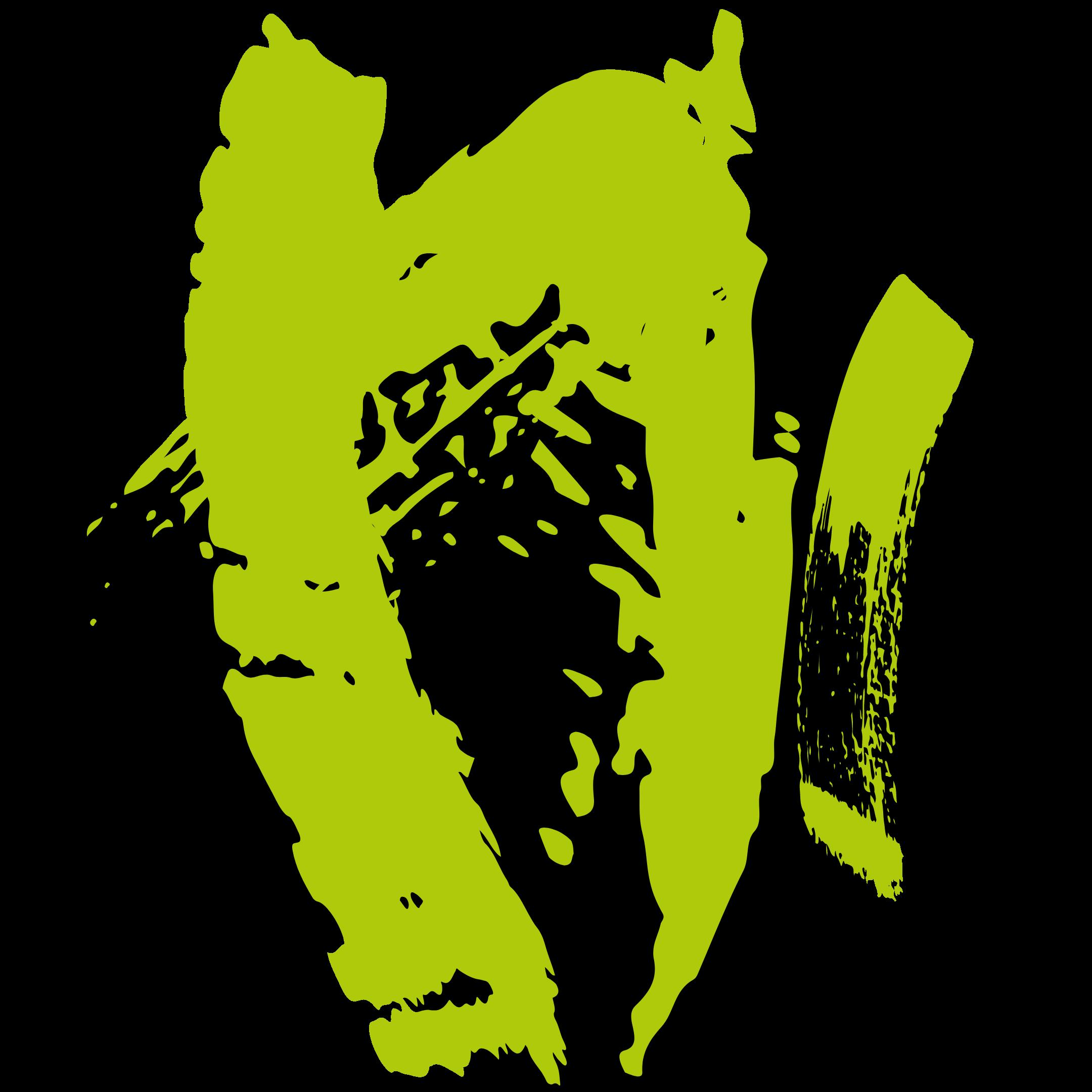green brush strokes skinsetgo