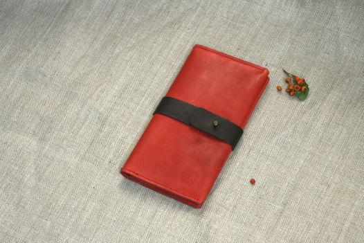 """Рябиновое портмоне из натуральной кожи, модель """"EXP"""""""