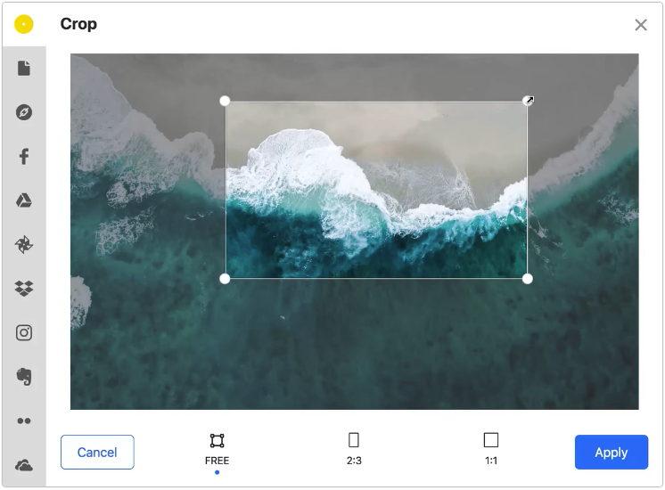 Uploadcare browser image editor