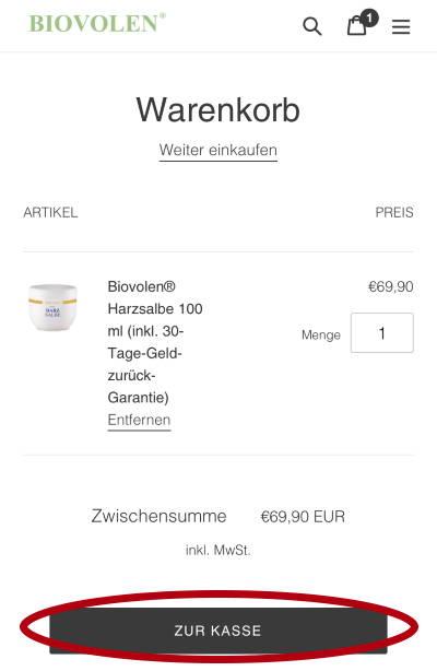 Biovolen Harzsalbe kaufen