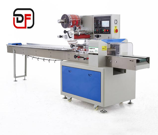 The Danflow flow wrapping machine in flow pack model Gamma