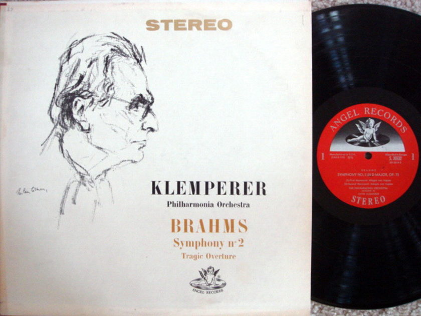 EMI Angel Semi-Circle / KLEMPERER, - Brahms Symphony No.2, MINT!