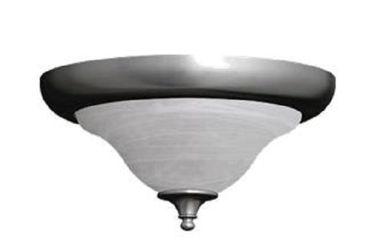 OPTIONAL FLUSH CEILING LIGHT-NICKEL
